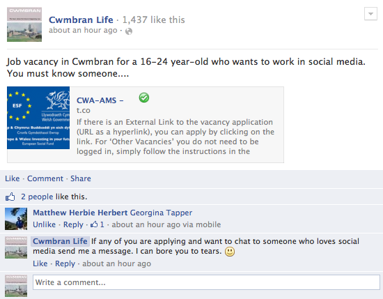 Social media job in Cwmbran